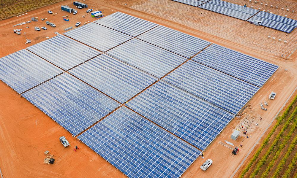 PEG solar panels in construction