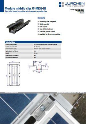 PV module clip MKGIII