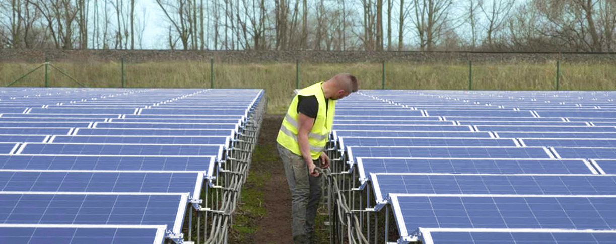 Only 1m height Solar Power Plant PEG