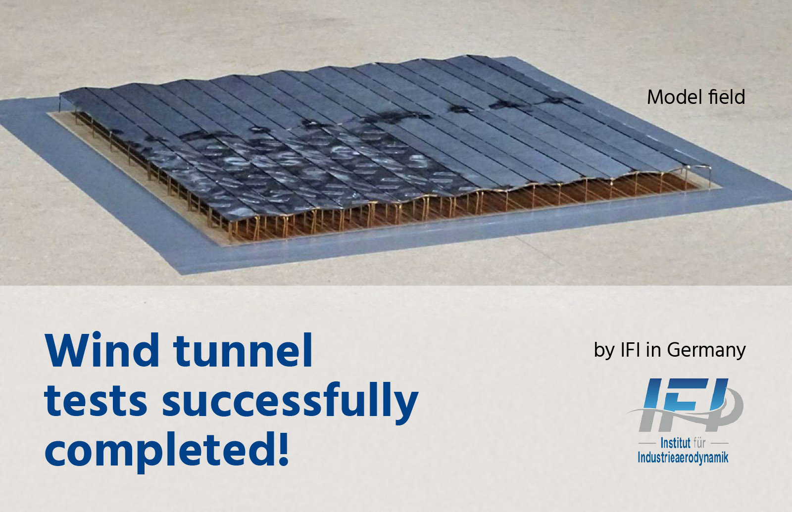 Wind tunnel solar power plant